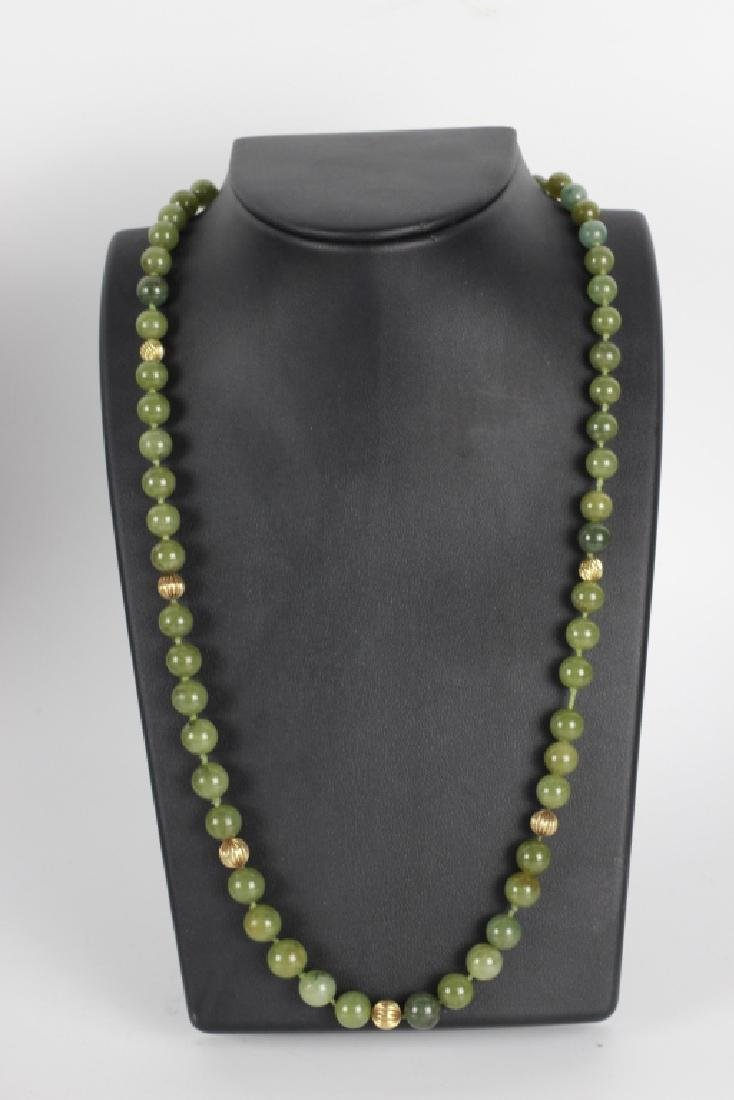 Group Of 6 Chinese Necklaces. Jade & Gold - 2