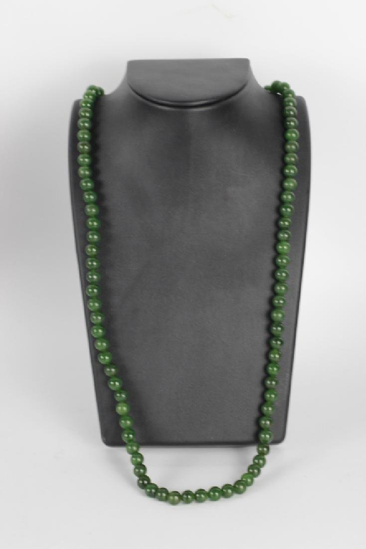 Group Of 6 Chinese Necklaces. Jade & Gold - 3
