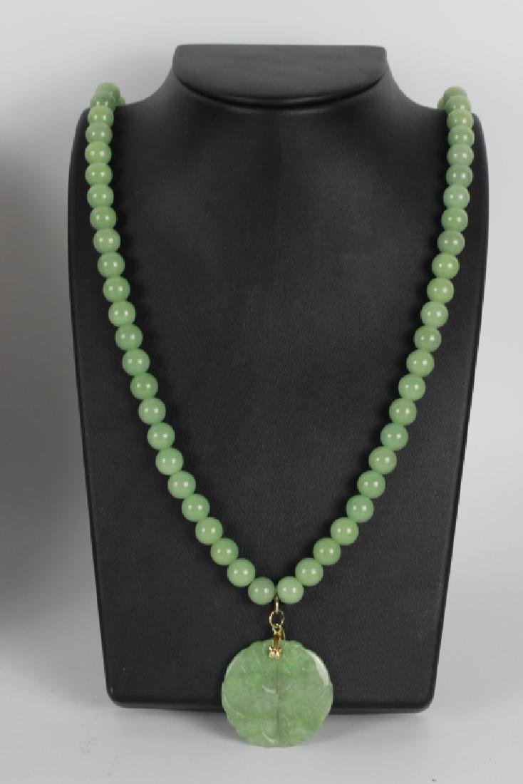 Group Of 6 Chinese Necklaces. Jade & Gold - 9