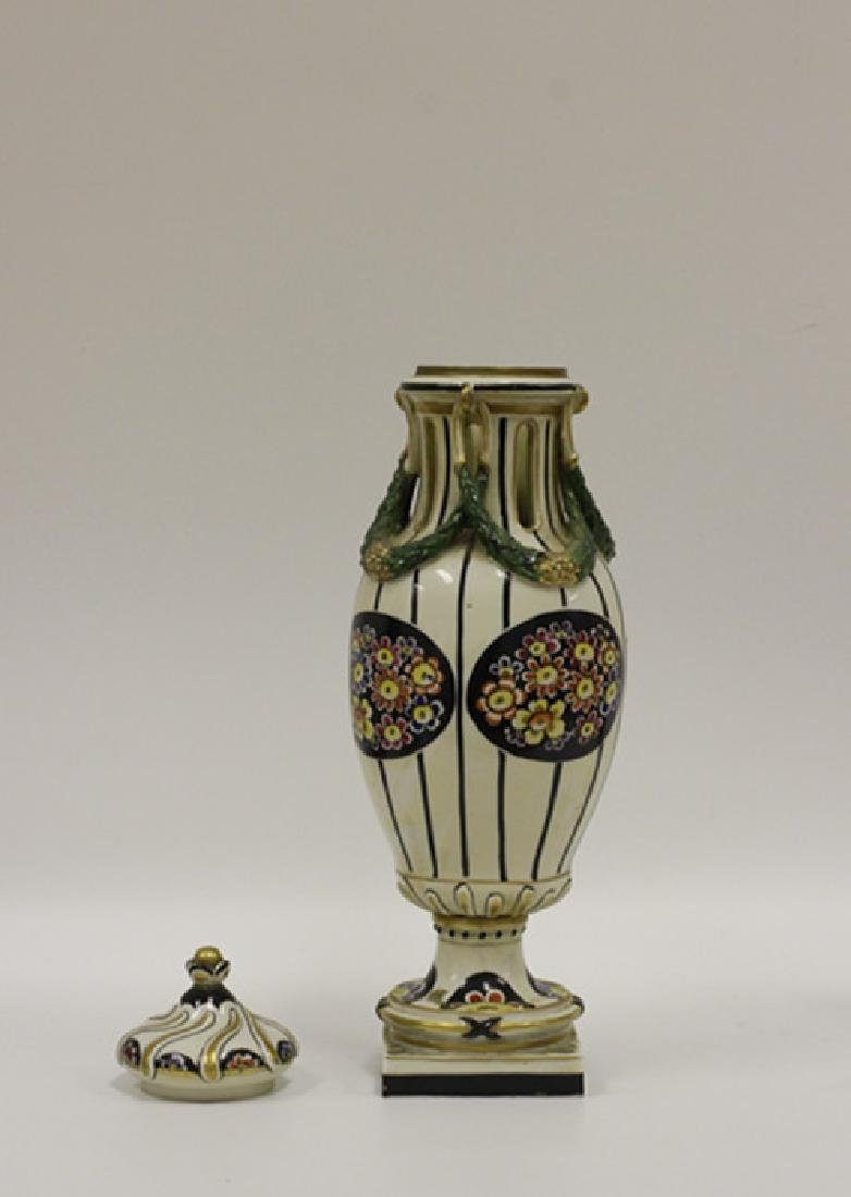 2 Porcelain Items - Vase And English Pitcher - 2