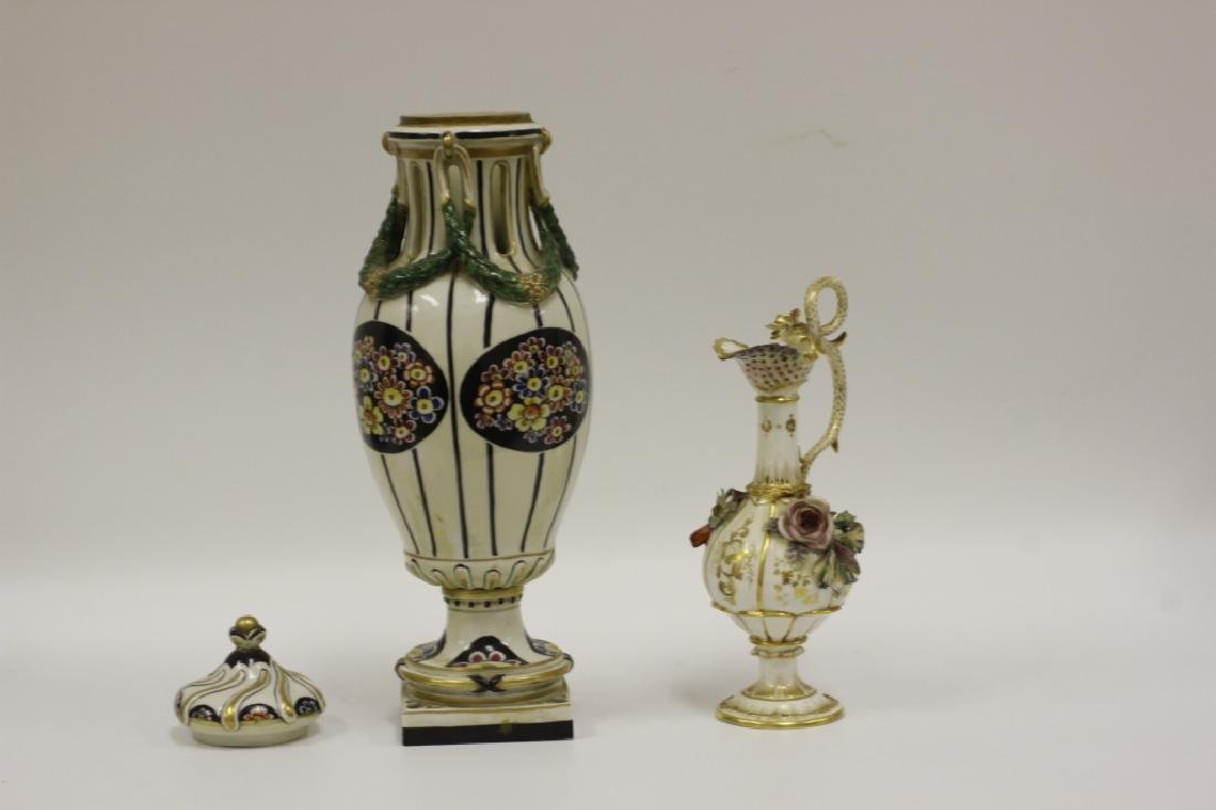2 Porcelain Items - Vase And English Pitcher - 4