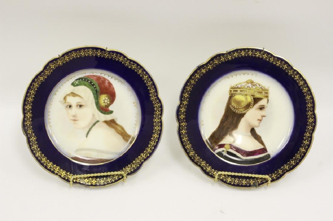 Pair Of 19thc Porcelain Plates