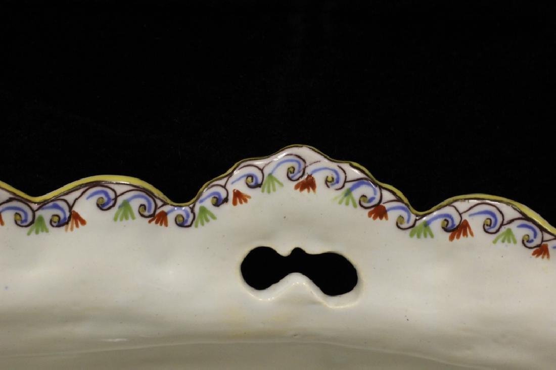 19thc. 2 Handled Porcelain Bowl Signed Rouien - 4