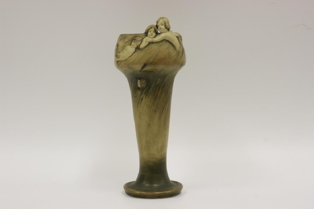 Rare Teplitz Amphora Art Nouveaux Figural Vase