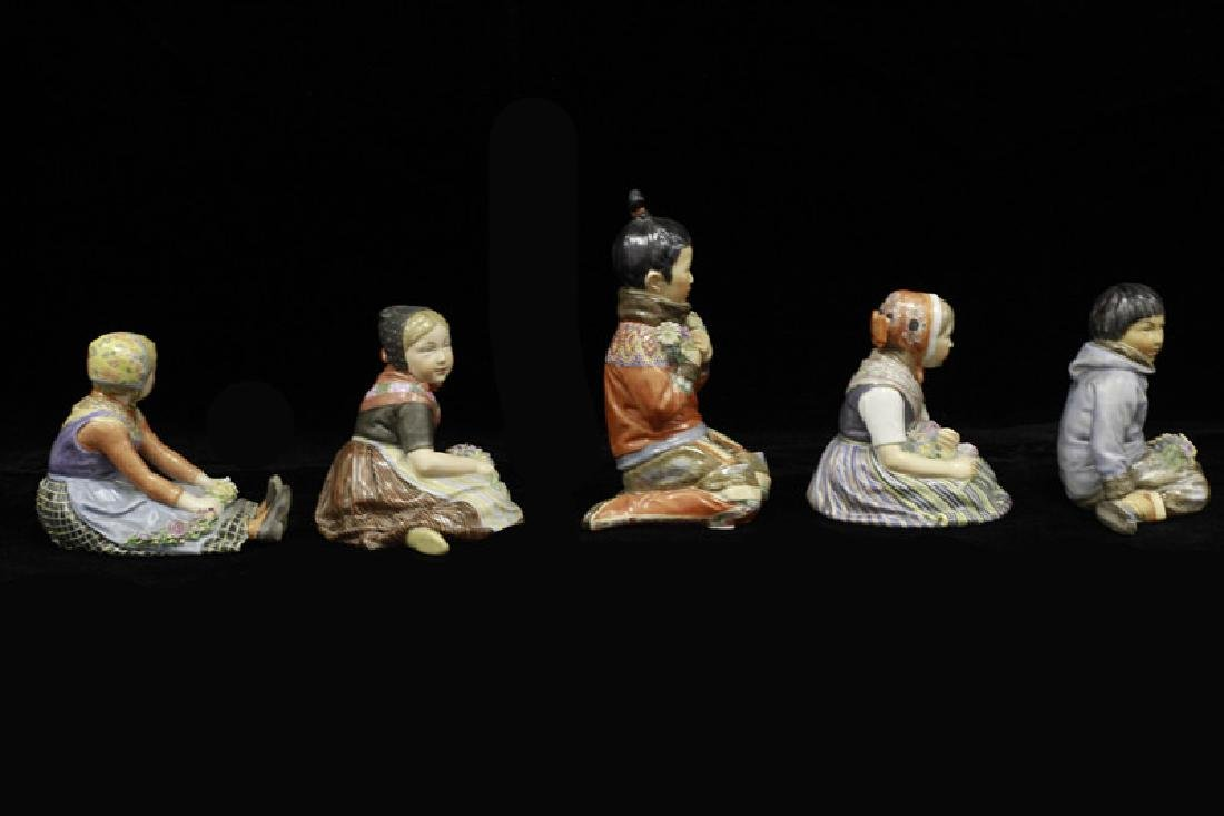 5 Royal Copenhagen Porcelain Figurines, All Signed - 2