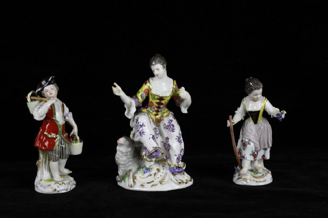 3 19thc Meissen Figurines