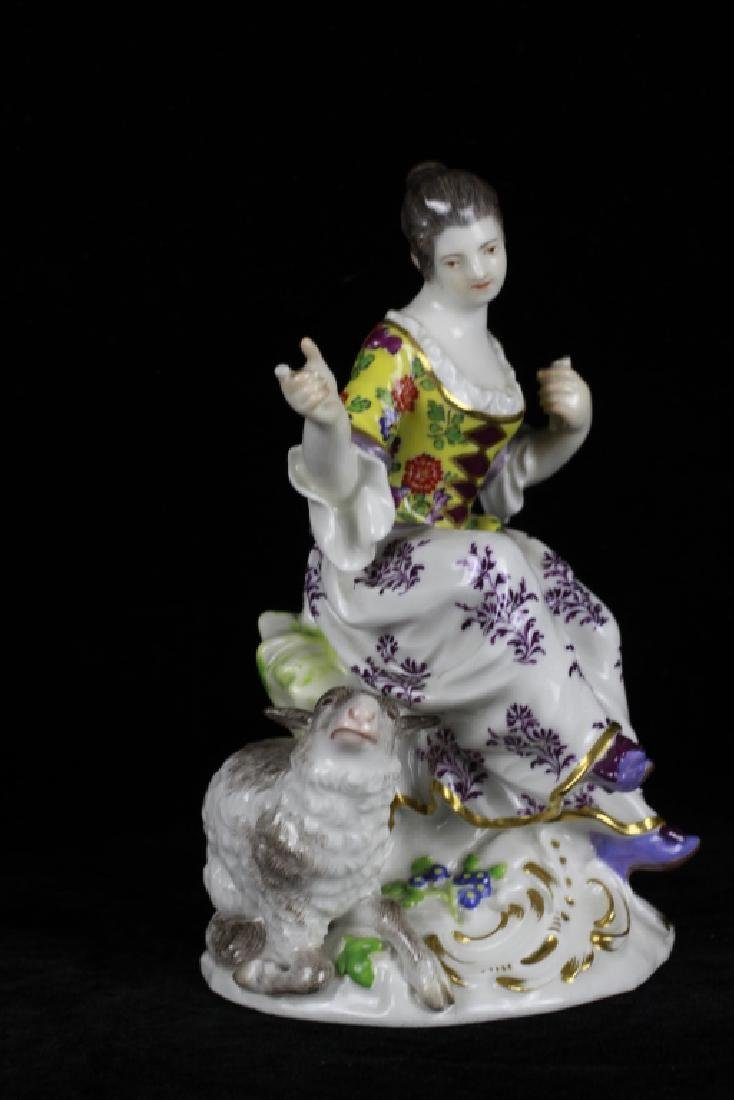 3 19thc Meissen Figurines - 3