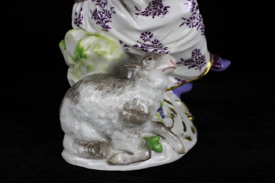 3 19thc Meissen Figurines - 4