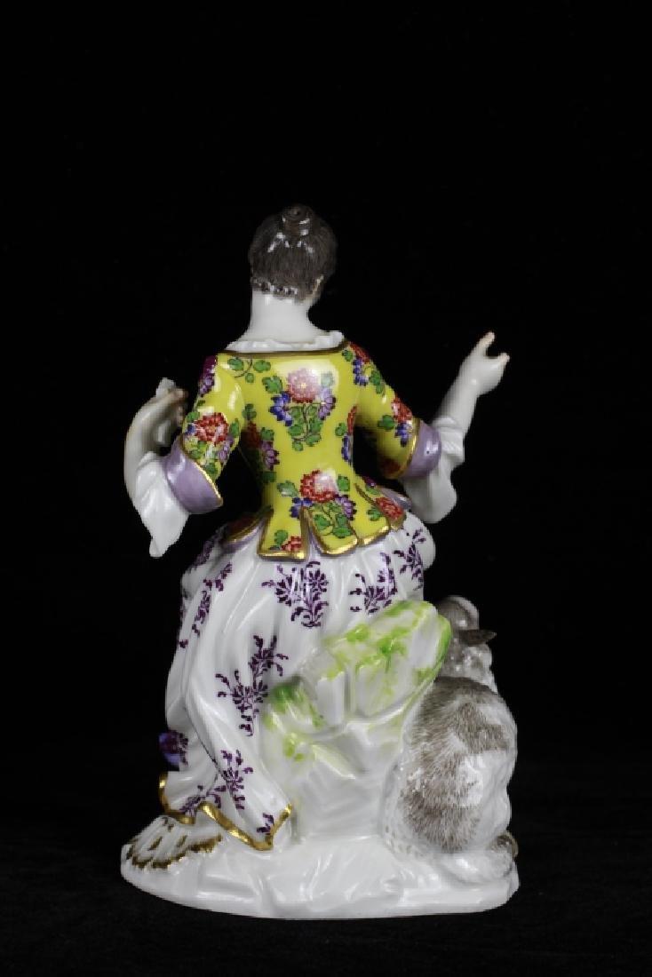 3 19thc Meissen Figurines - 5