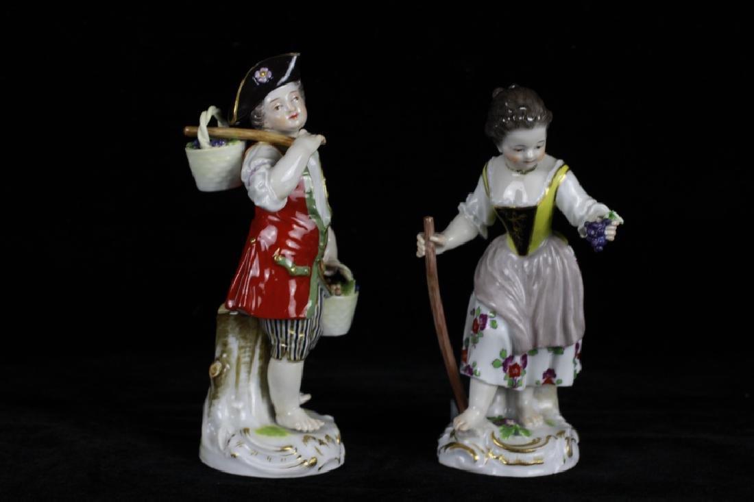 3 19thc Meissen Figurines - 6
