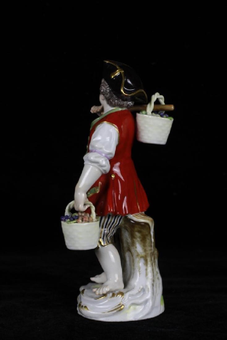 3 19thc Meissen Figurines - 7