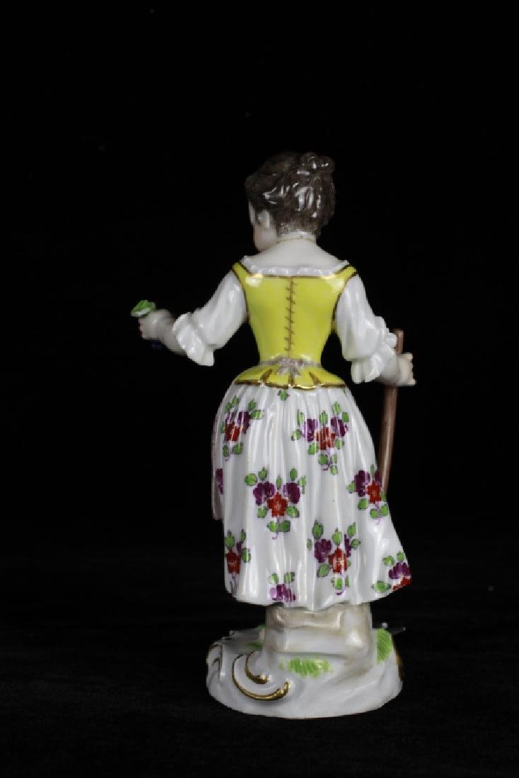 3 19thc Meissen Figurines - 8