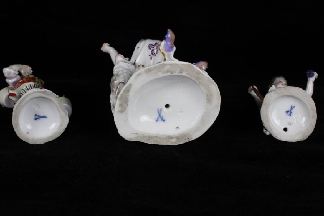 3 19thc Meissen Figurines - 9