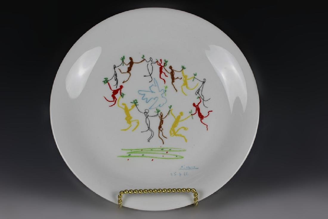 Limoges Porcelain Plate After Picasso Design