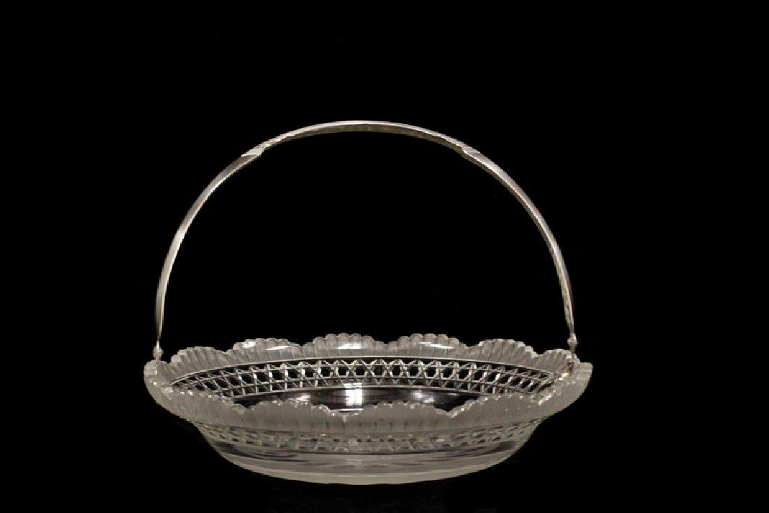Dutch Cut Glass And Silver Basket