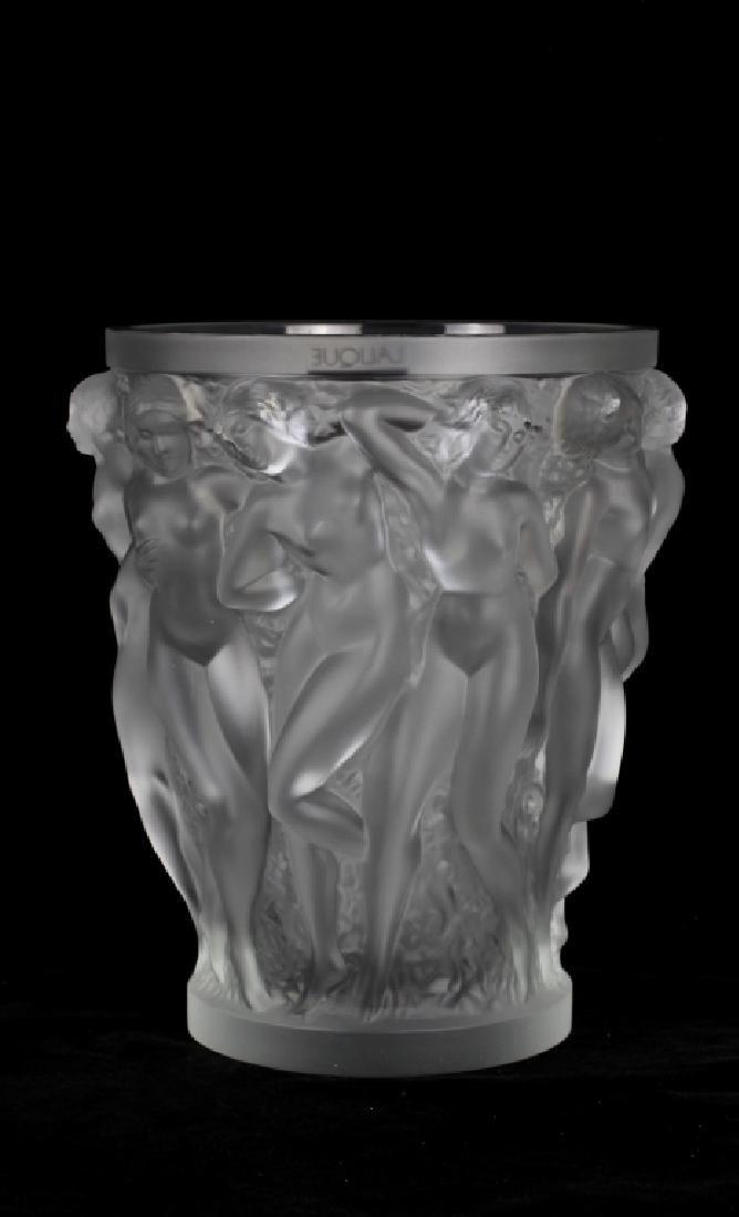 Lalique Bacchantes Vase W/ Original Box