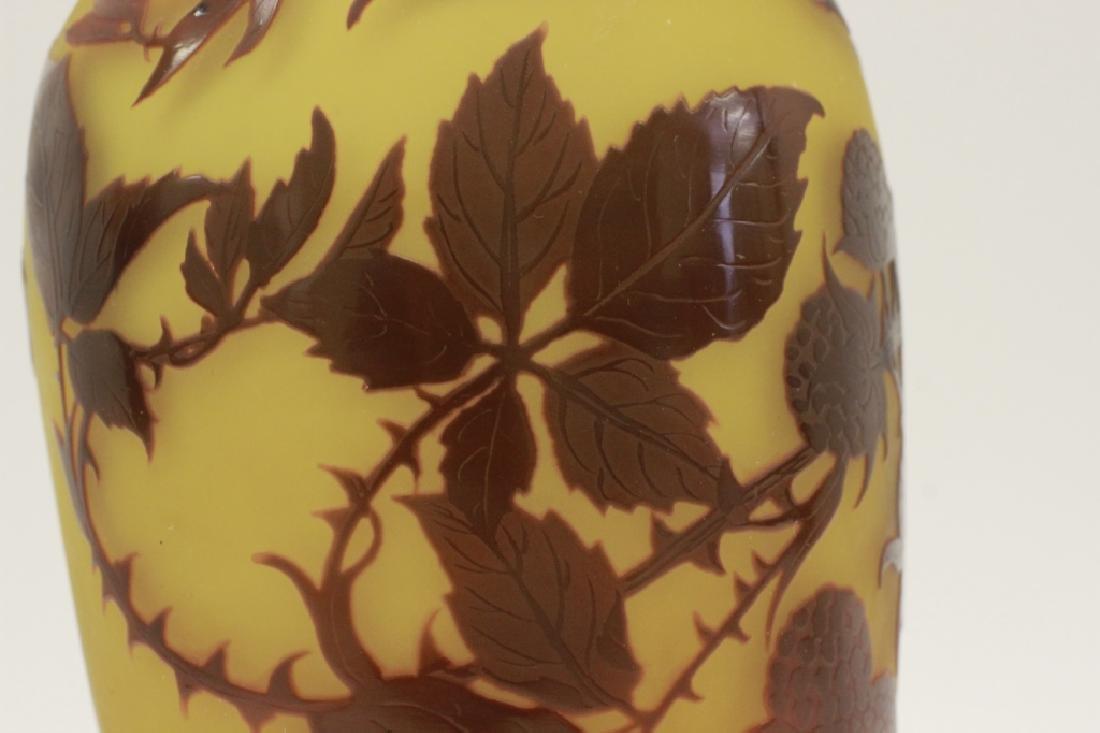 D'Argental Berry Vase, Signed - 10