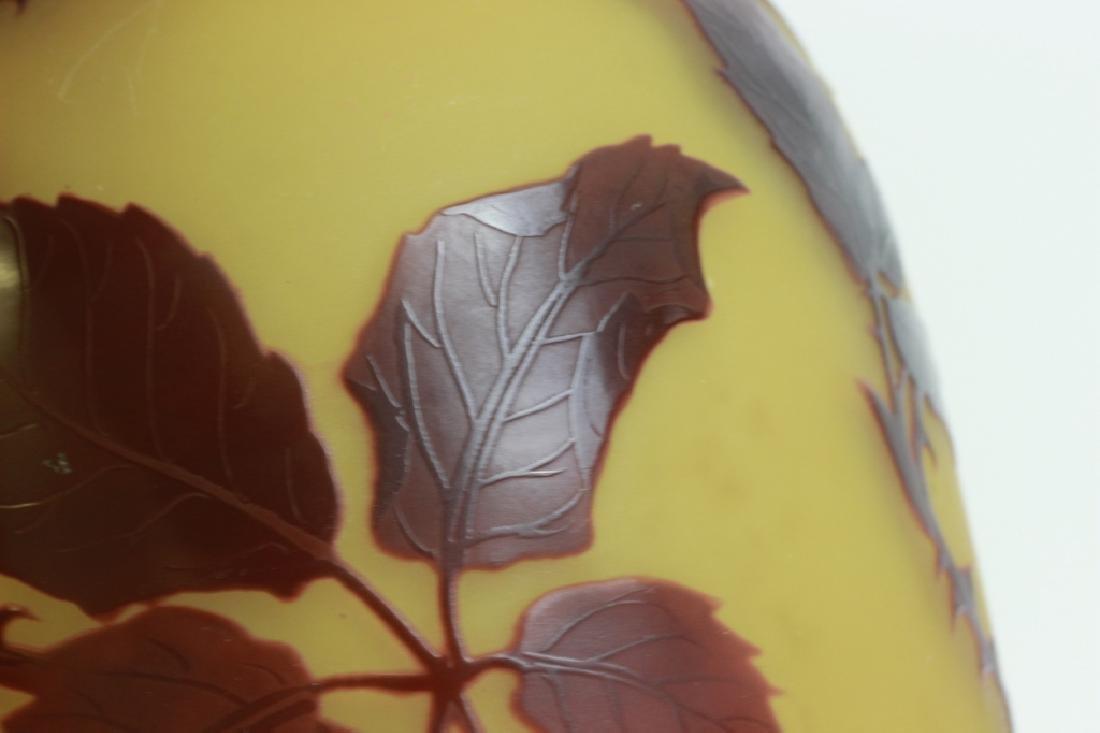 D'Argental Berry Vase, Signed - 12