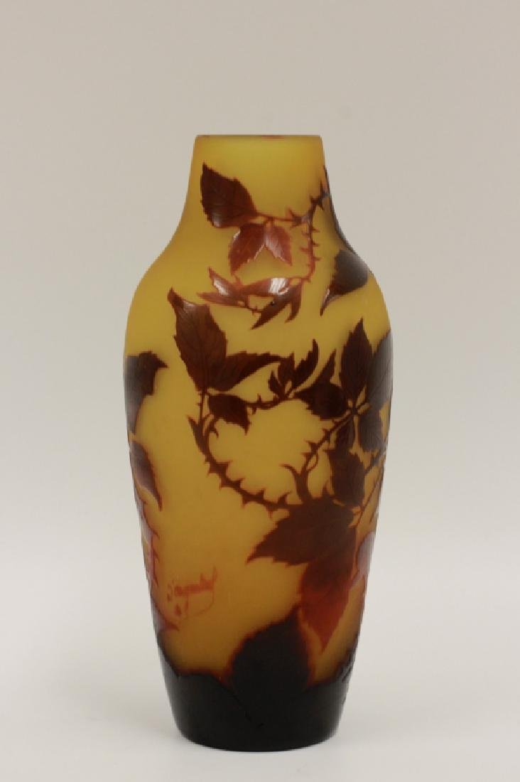 D'Argental Berry Vase, Signed