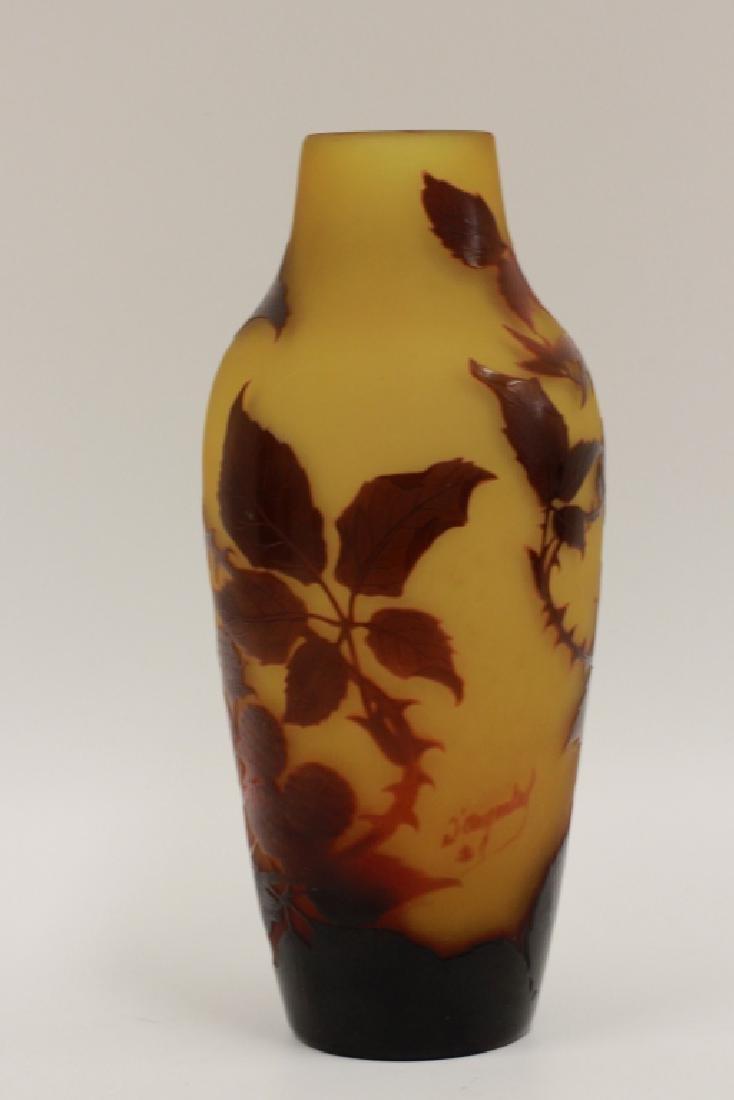 D'Argental Berry Vase, Signed - 2