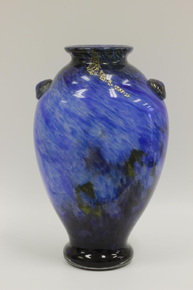 Daum Nancy Art Deco Very Large Blue Vase