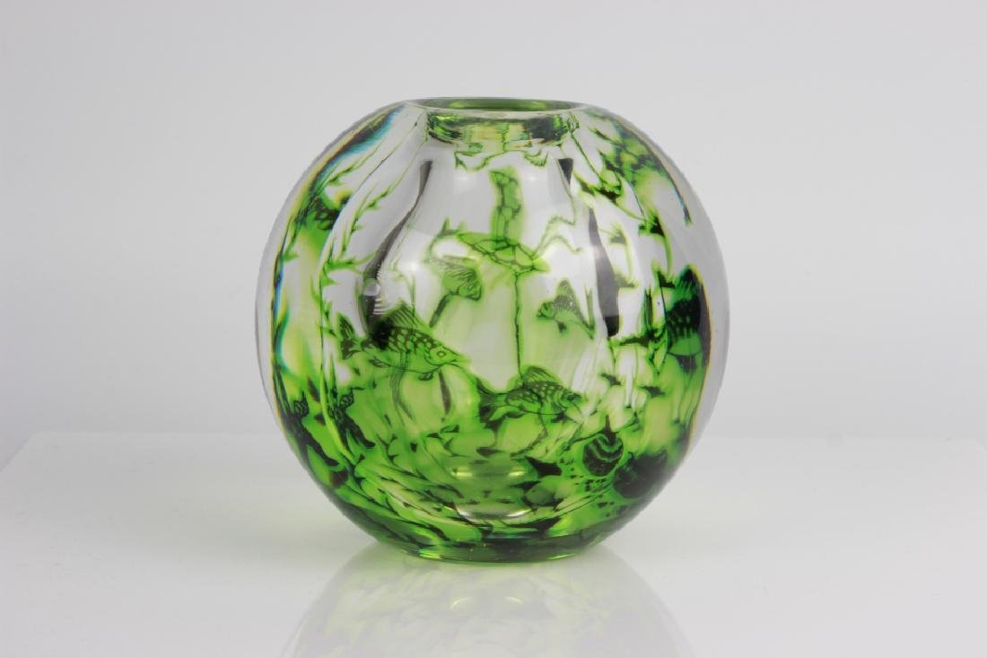 Orrefors Graal Vase By Edword Hald