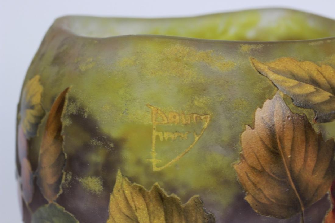 Daum Nancy Enameled Berry Cameo Glass Bowl - 5