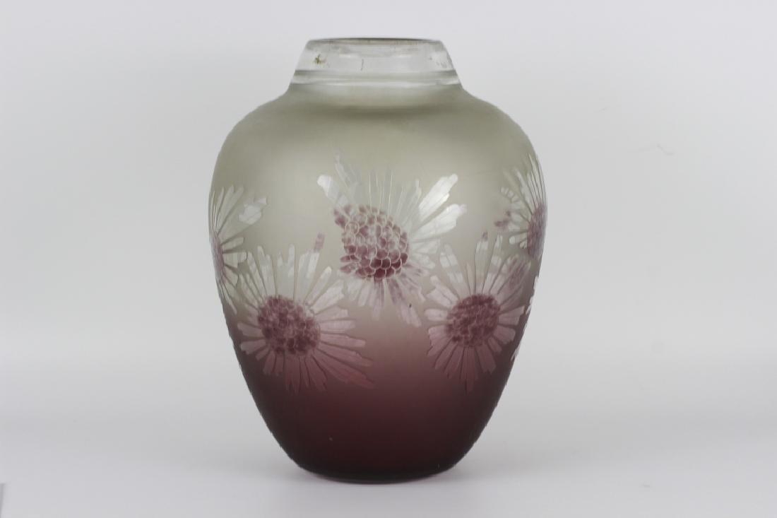 Schneider Le Verre Francais Large Art Deco Glass Vase
