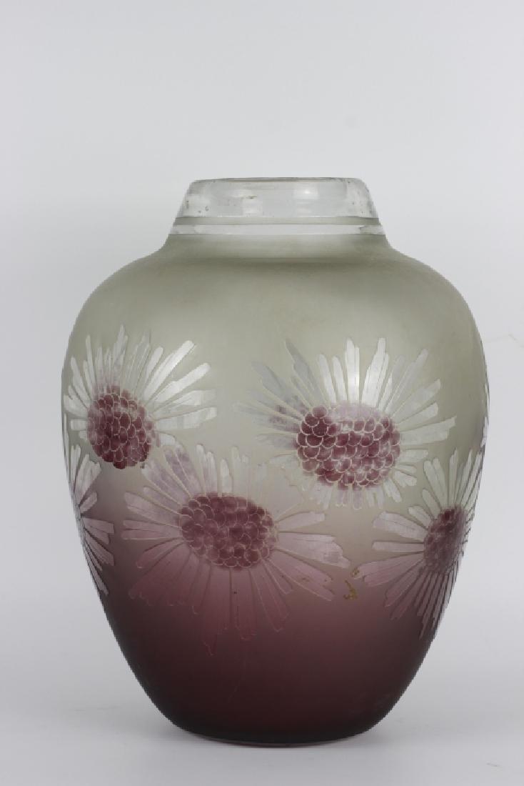 Schneider Le Verre Francais Large Art Deco Glass Vase - 2