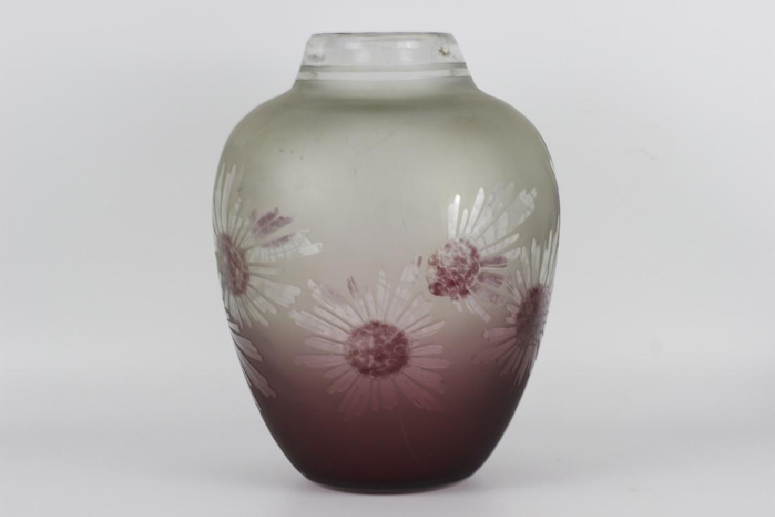 Schneider Le Verre Francais Large Art Deco Glass Vase - 3