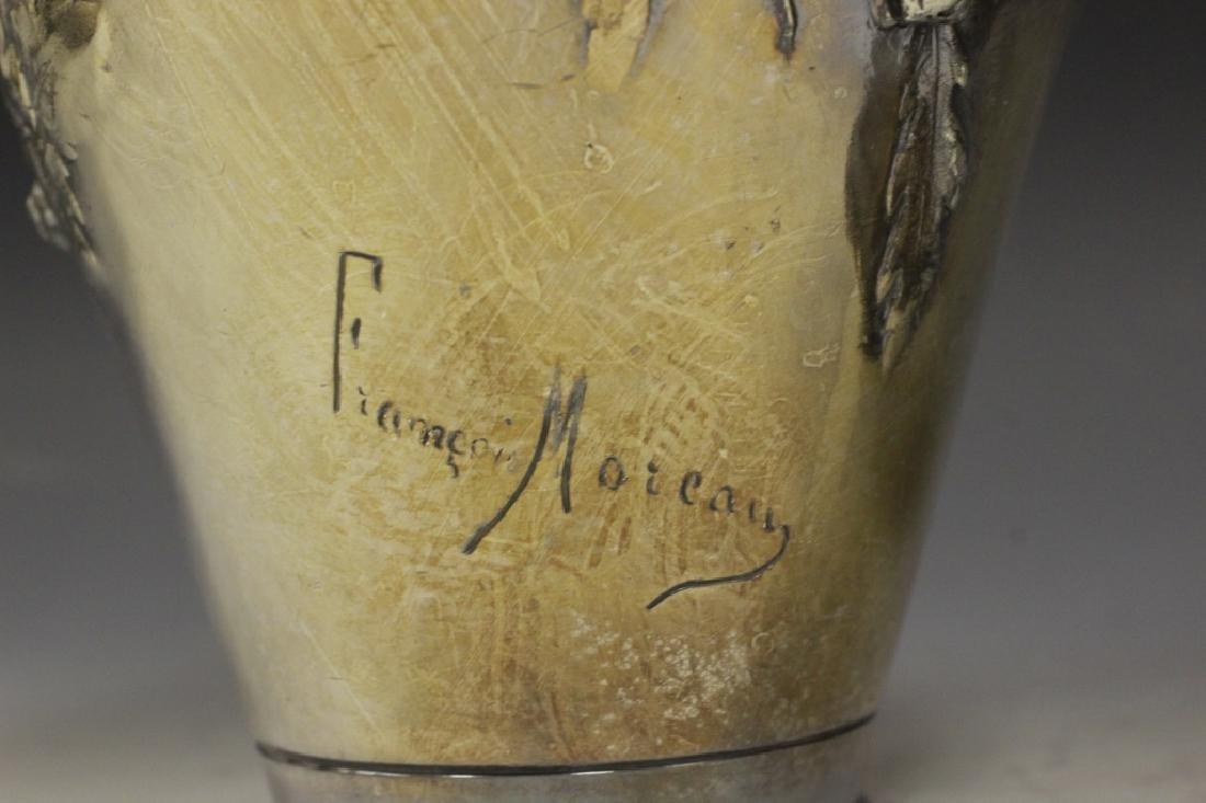2 Art Nouveau Bronze Vases Signed Francois Moreau - 4