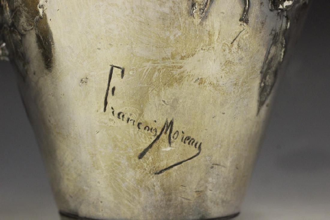2 Art Nouveau Bronze Vases Signed Francois Moreau - 5