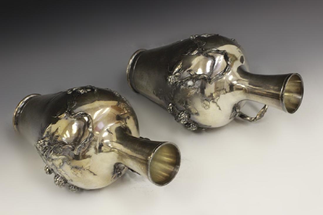 2 Art Nouveau Bronze Vases Signed Francois Moreau - 7