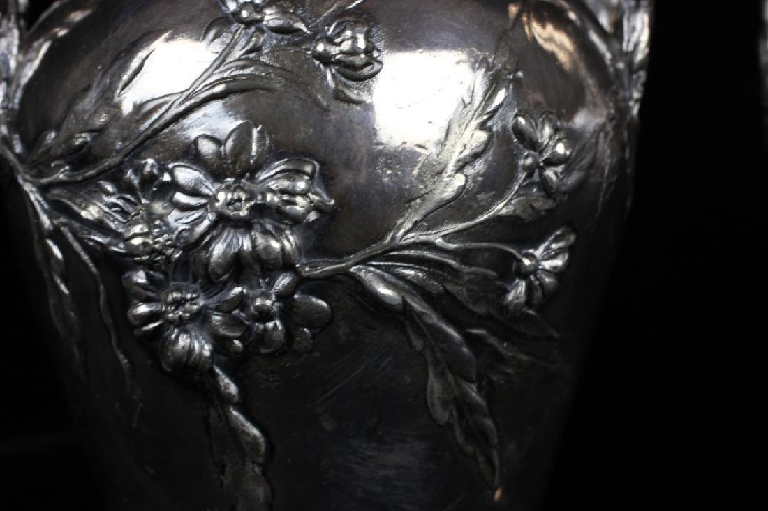 2 Art Nouveau Bronze Vases Signed Francois Moreau - 9