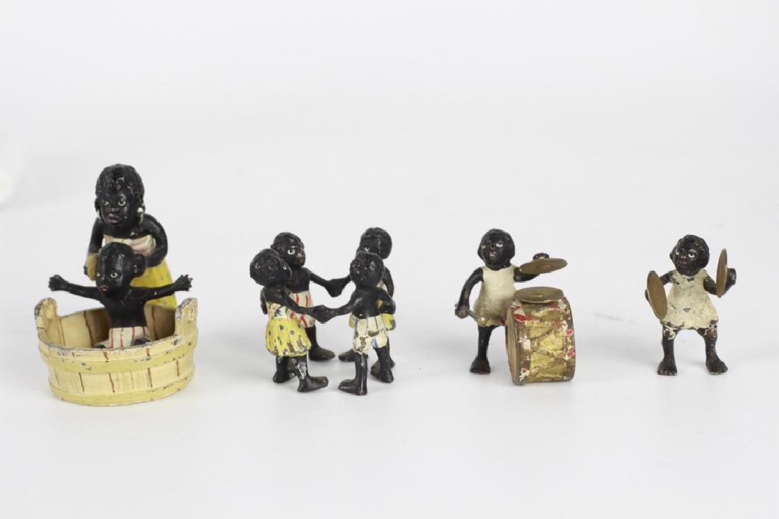 Rare Miniature African  American Vienna Bronzes