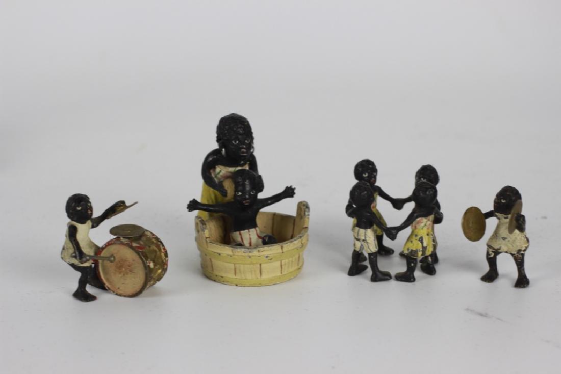 Rare Miniature African  American Vienna Bronzes - 2