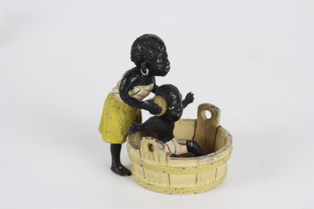 Rare Miniature African  American Vienna Bronzes - 3