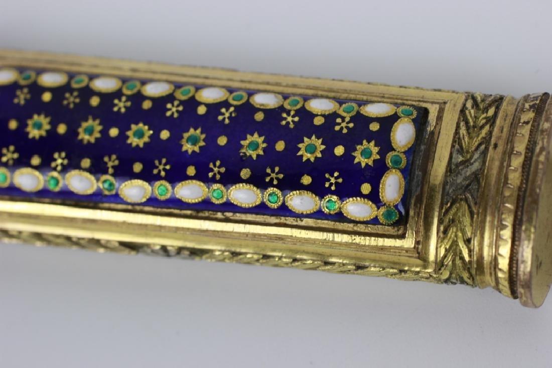 18thc French Enameled Etui. Probably 10k Gold - 4