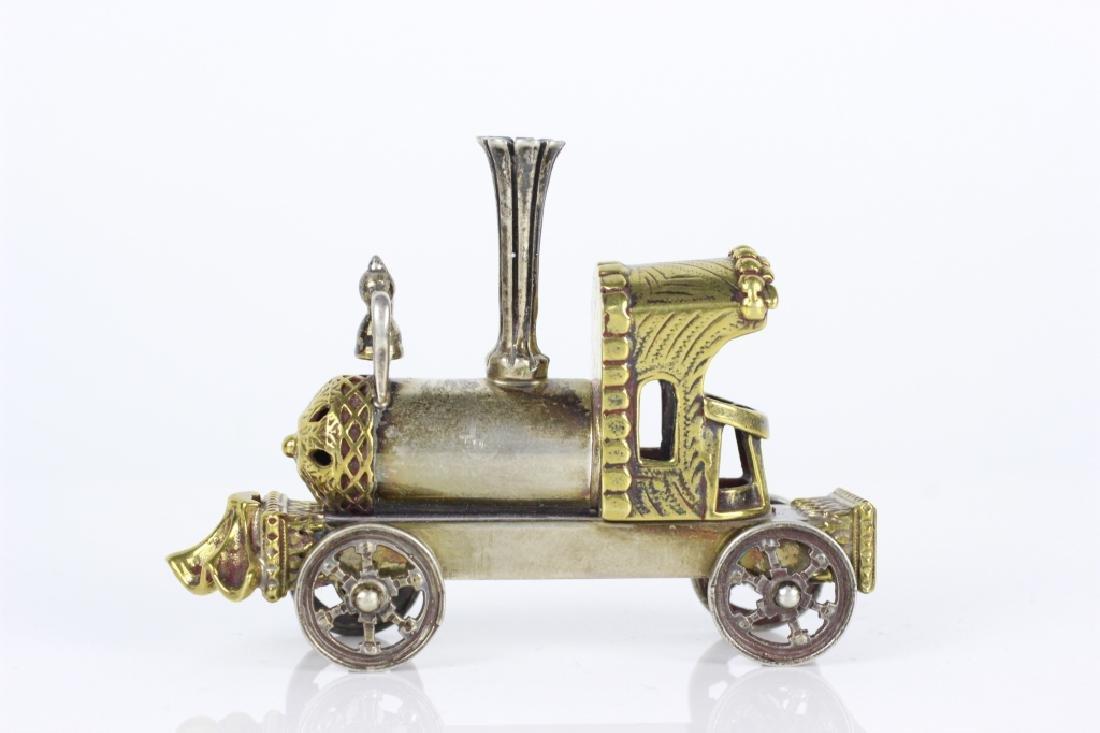 Judaica Sterling Silver Hand Made Miniature Train