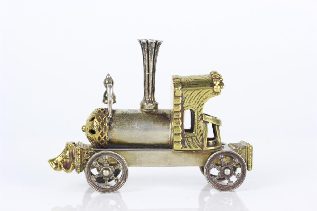 Judaica Sterling Silver Hand Made Miniature Train