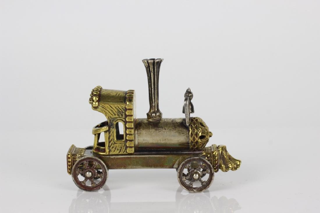 Judaica Sterling Silver Hand Made Miniature Train - 5