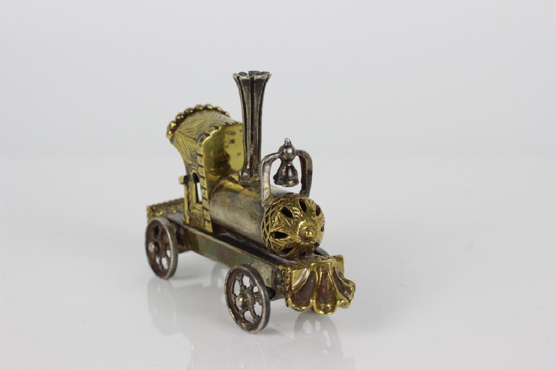Judaica Sterling Silver Hand Made Miniature Train - 6