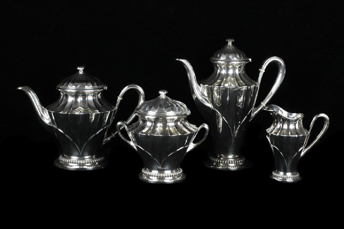 French Sterling Silver Tea Set By Tetard Freres