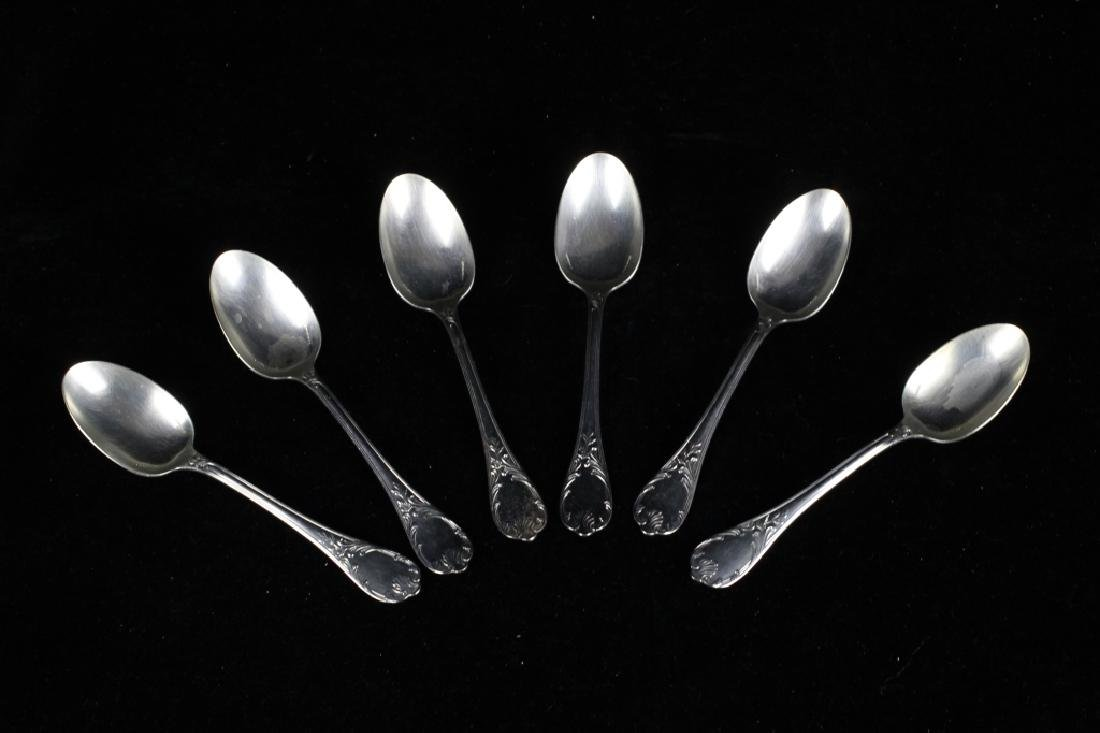 6 Sterling Silver Christofle French Spoons