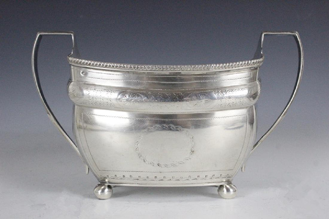 Sterling Silver Two Handle Sugar Bowl