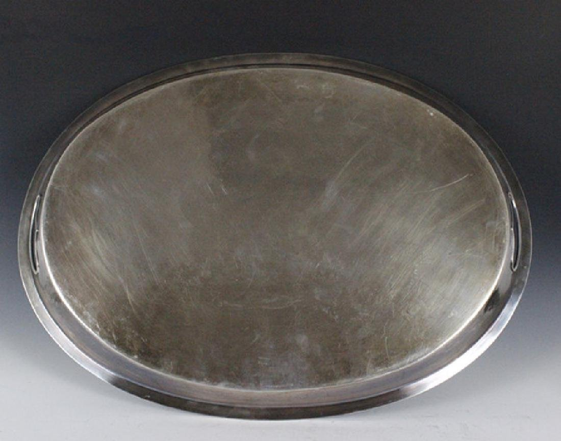 Large Old Silver Plate Tray - 4