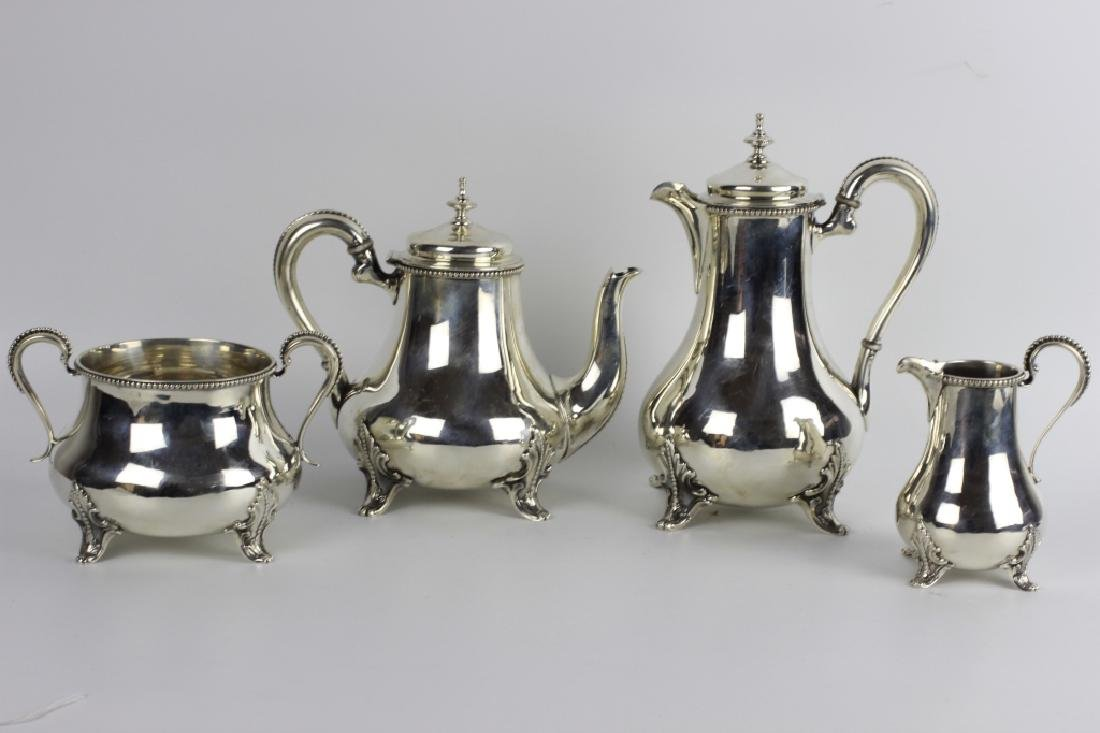 Sterling Silver English Tea & Coffee Set