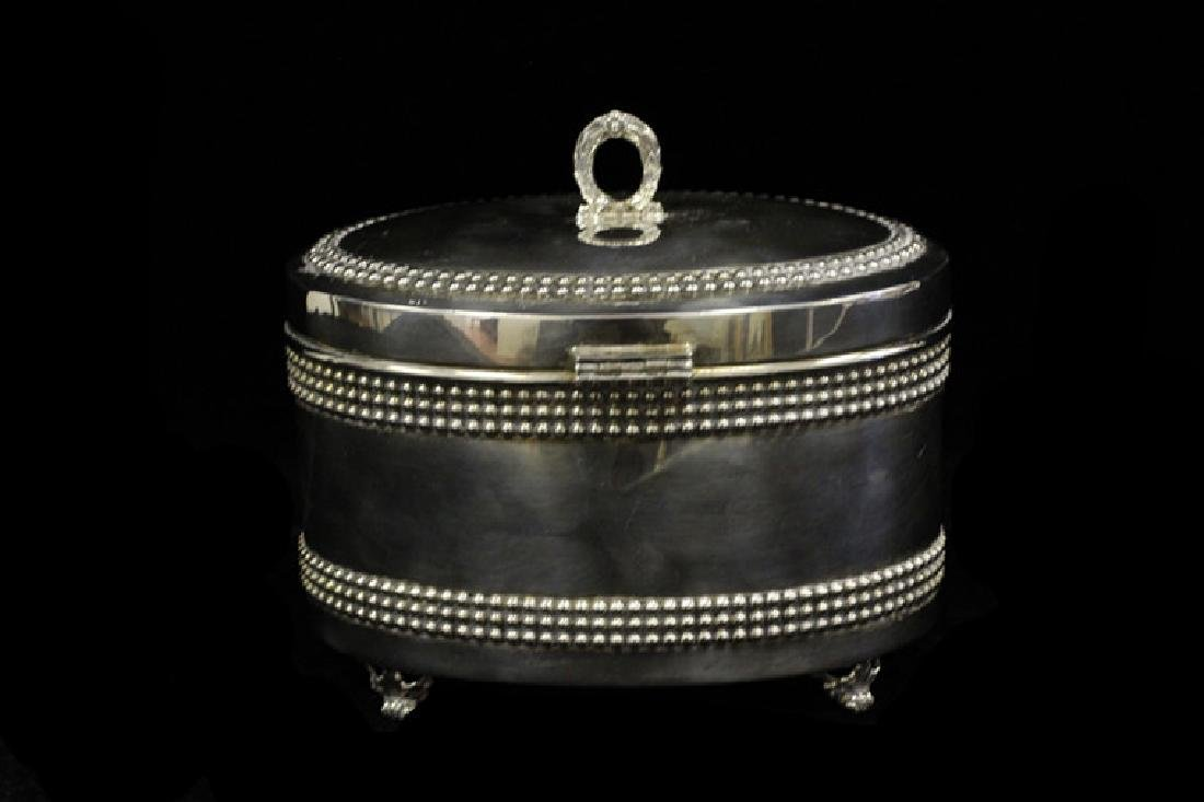 Sterling Silver Oval Shape Box
