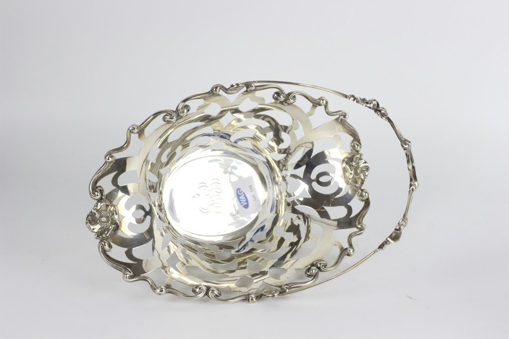 Sterling Silver Art Nouveau Basket - 10