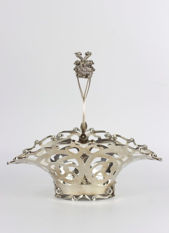 Sterling Silver Art Nouveau Basket